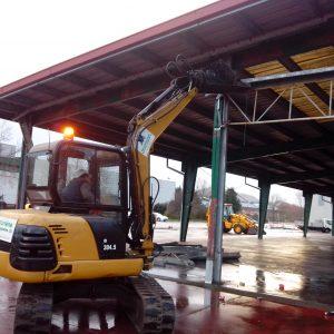 Demolición cubierta en Munguía